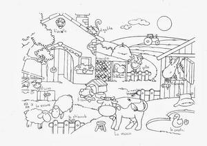 Bello disegno animali fattoria da colorare per bambini for Piani di riproduzione della fattoria